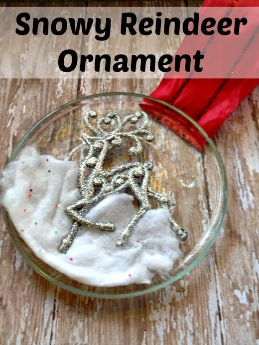 Snowy Reindeer Custom Christmas Ornament