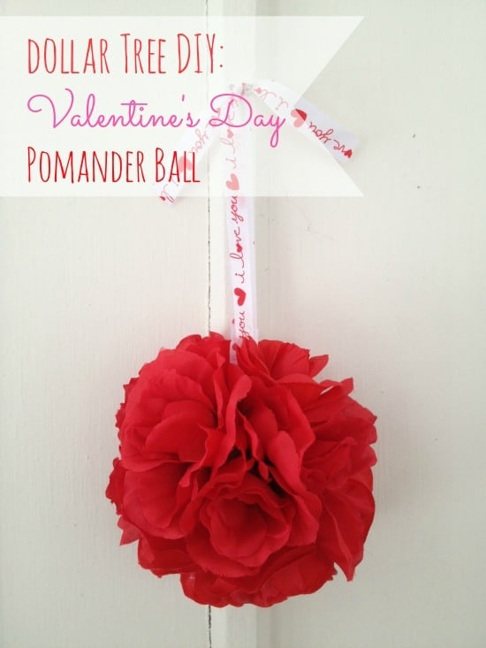This valentines decoration of flowers and ribbon is cute for any size house or budget! It is a great idea to make multiple and put them together. Also includes more ideas for valentines day decorations!
