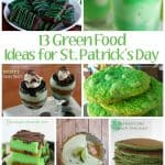 13 green recipes to help your St Patricks day celebration be over the rainbow!  These green food ideas include desserts, drinks, breakfast, lunch and more!