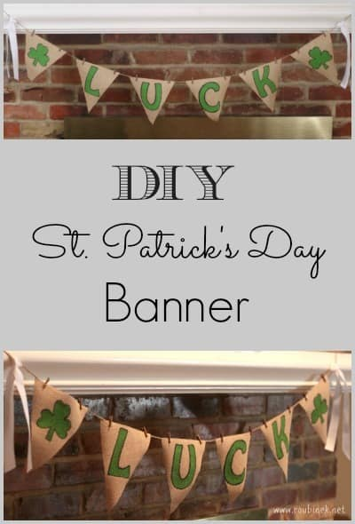 DIY St Patricks Day Banner
