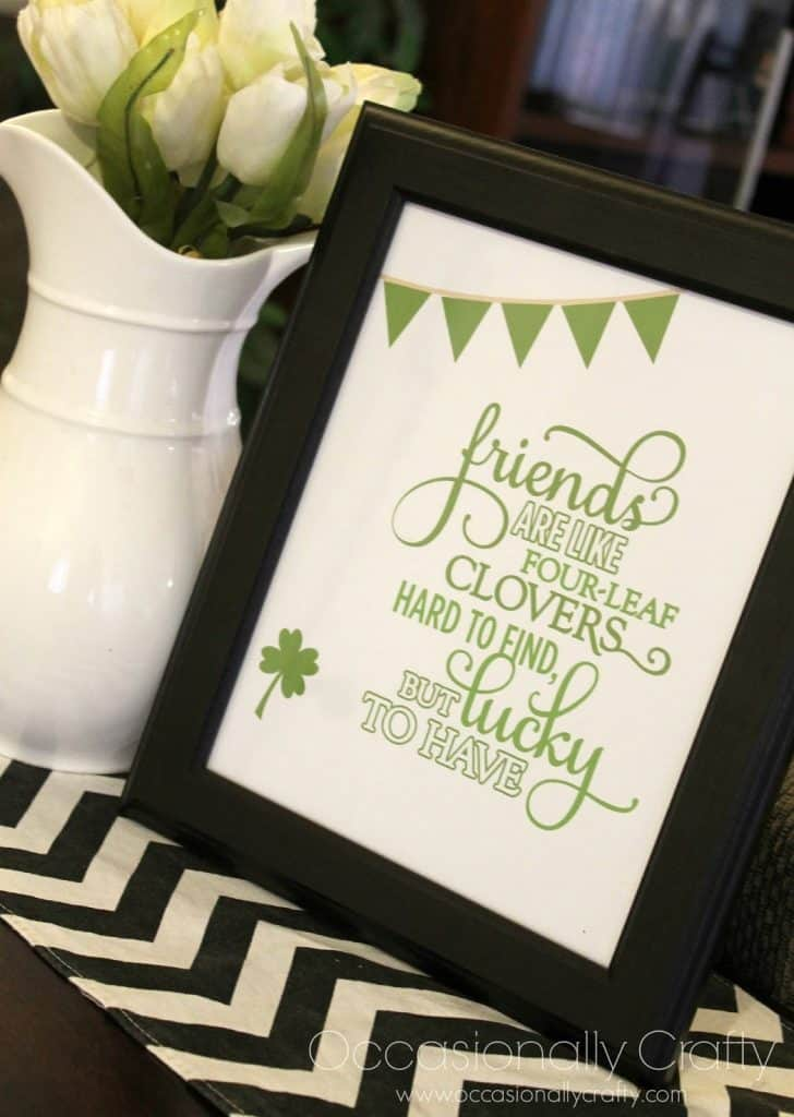 Lucky to Have Friends Printable
