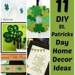 Use these 11 DIY St. Patrick's day decorations to make your home decor lucky as can be! These include, wall hangings, St Patrick's day crafts and more!
