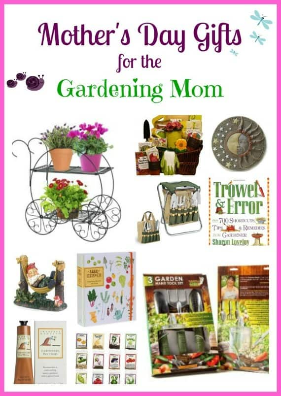 Mother's day gift Ideas for any gardener.  Especially good ideas for a mom who loves to garden.  Includes tools, products, decor and more!