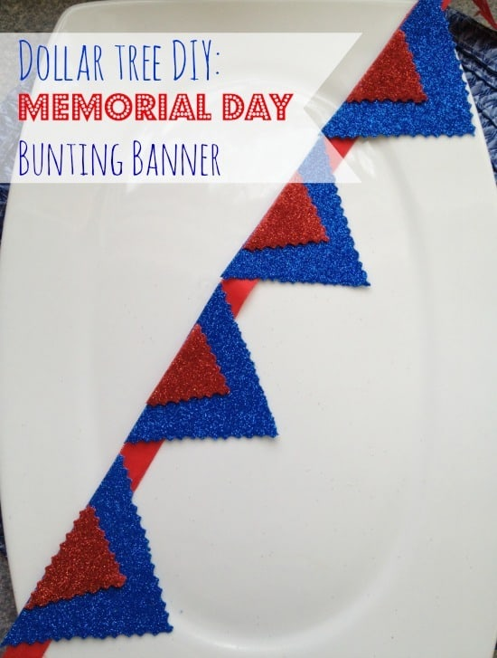 Dollar Tree DIY: Memorial Day Craft Bunting
