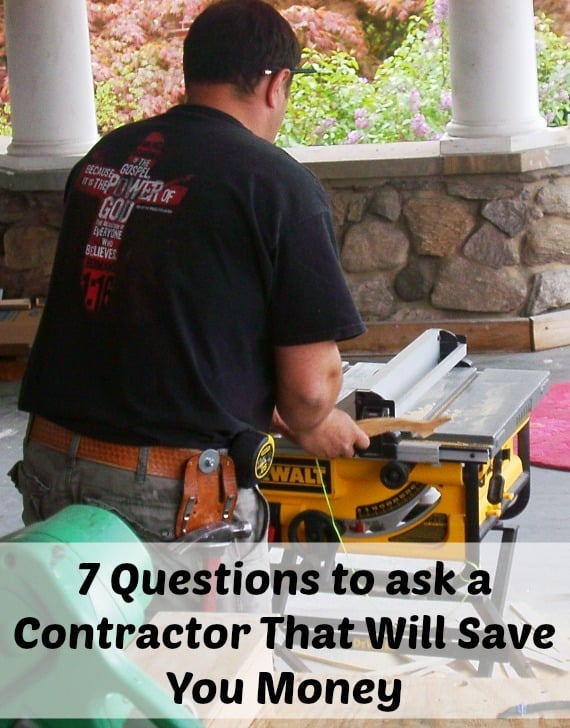 questions to ask a prospective contractor