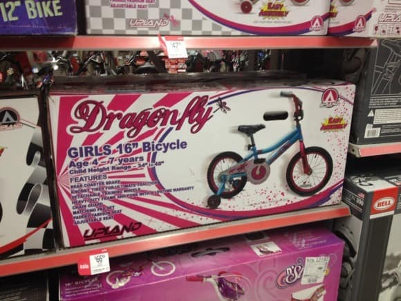 Girls Dragonfly Bike