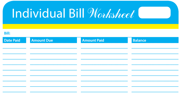 Free Printable Bill Tracker To Teach You How to Track ...