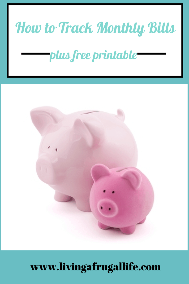 How to Track Monthly Bills+Free Printable