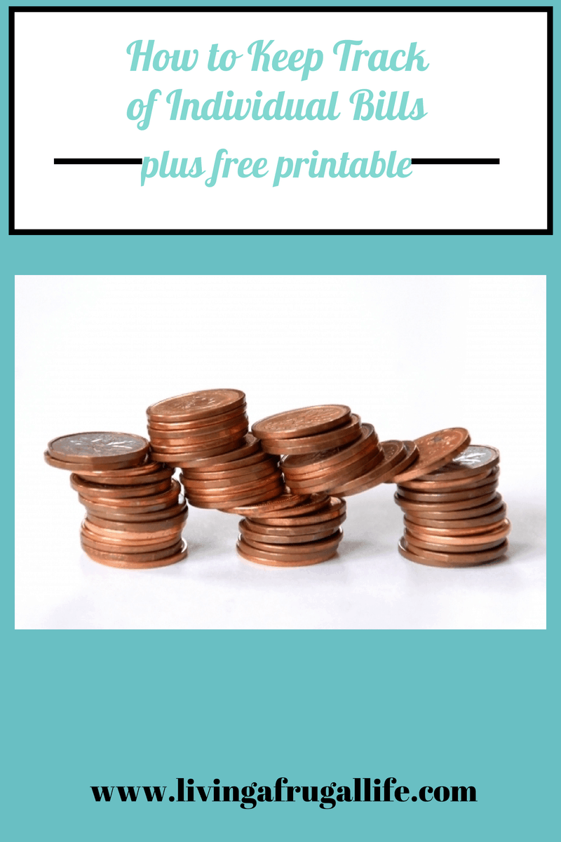 How to Keep Track of Individual Bills + Free Printable