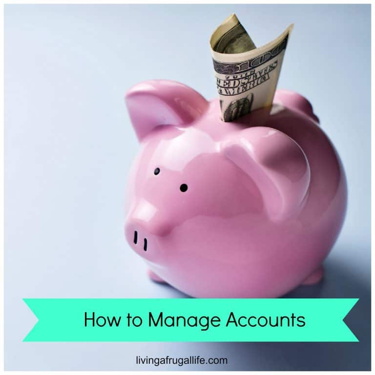 How to Manage Accounts and Organize Your Money + Free Printable