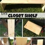 Check out this great tutorial on how to build DIY freestanding shelves for added space in a closet. Includes step by step instructions with pictures!