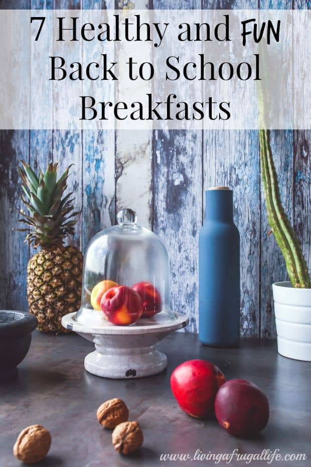 Are you looking for new breakfast ideas for back to school?  These 7 back to school breakfasts include  fruit, nuts, grains and yogurt.