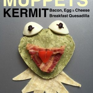 Celebrate the return of The Muppets with this Egg and bacon quesadilla