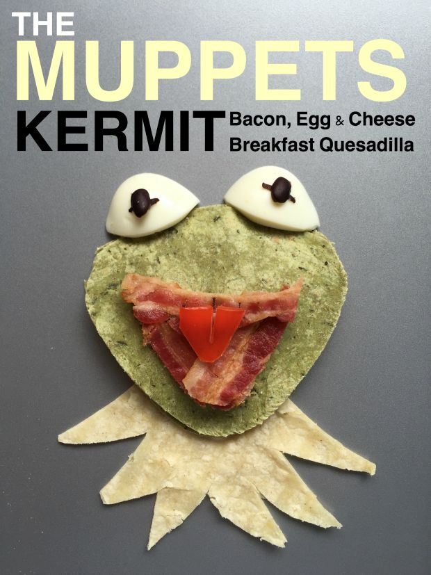 The Muppet Show Inspired KERMIT Breakfast Quesadilla