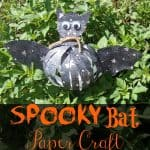 Make this bat paper craft to spookify your halloween decor! Great for all ages!