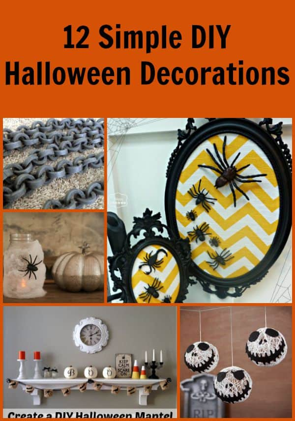 12 diy halloween decorations that you can quickly make and some can even be done with - Simple Homemade Halloween Decorations