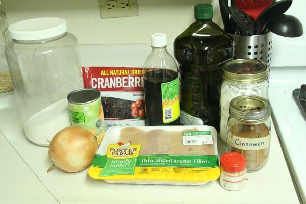 Use these simple ingredients to make Craberry Orange chicken in your crockpot!