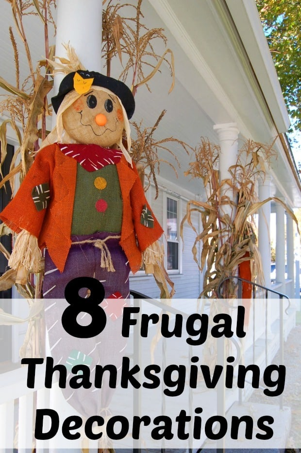 These 8 frugal thanksgiving decorations to make at home will give you quick and fun decorations for the thanksgiving holiday.