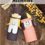These fun Thanksgiving activities will help keep your kids occupied while you make dinner or while you eat! Includes fun Thanksgiving activities and crafts made with paper, glue,jars, ribbon, silk flowers, pumpkins, mini gourds and other fall themed items.