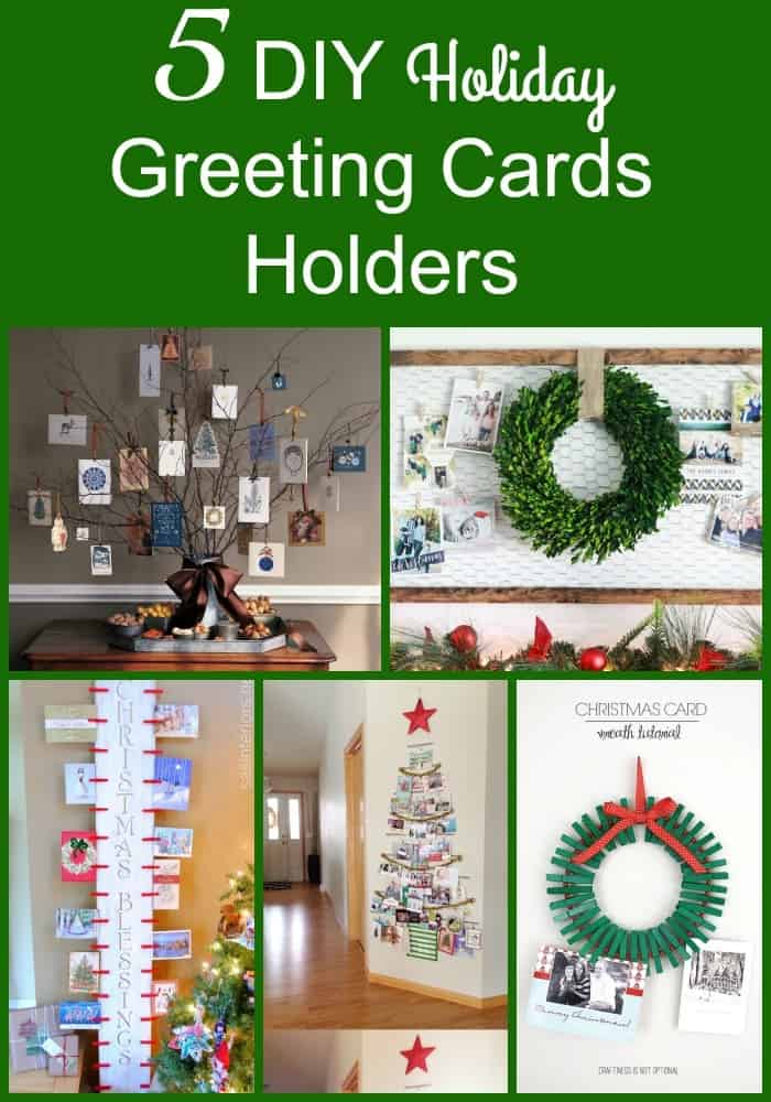 5 diy holiday greeting cards holders holiday greeting cards are not a thing of the past more and more people are m4hsunfo