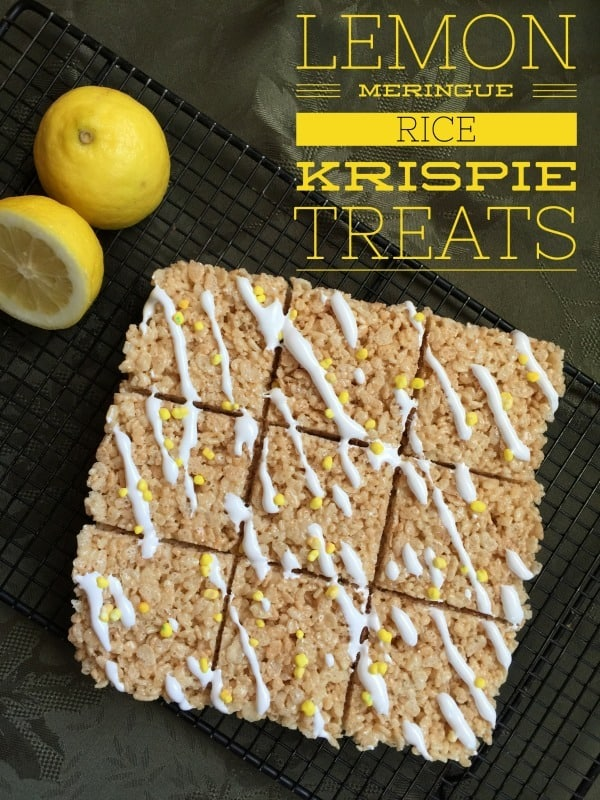 Are you looking for a dessert that is a twist on an old favorite? These Lemon Meringue Rice Krispie Treats will make you the hit of the party!