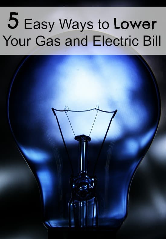 Are you looking for easy ways to lower your gas and electric bill? Check out these 5 things that you can do today to lower your bill and save you money!