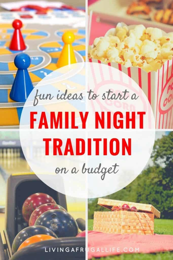 Are you looking for ideas to have a family night on a budget? These fun ideas are easy to do and don't take much planning!