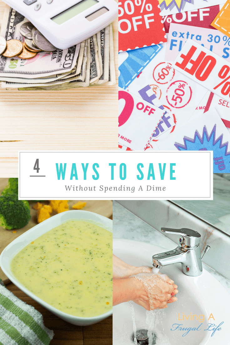 Using these 4 easy ways to save without spending a dime, you will be able to save money while still keeping your budget in check!
